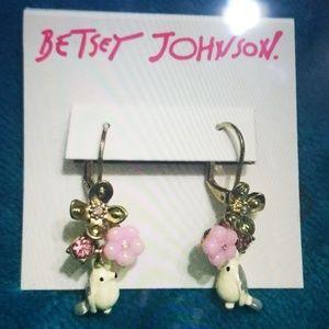 Betsey Johnson love birds earrings